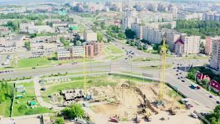 Строительство нового общежития ГрГУ имени Янки Купалы. Май 2019