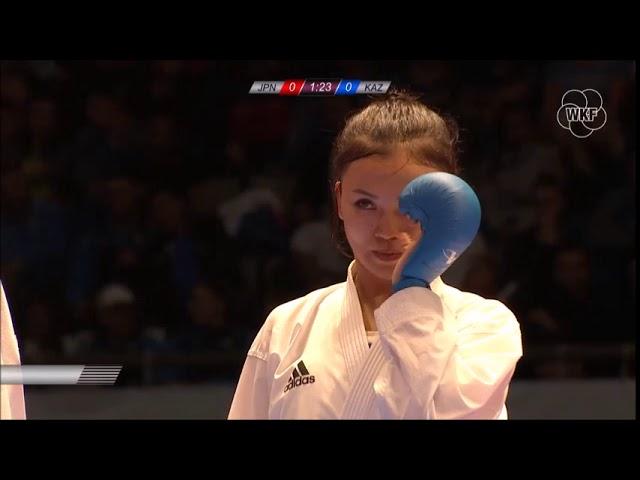 Shiori Nakamura vs Sabina Zakharova - Final Female Kumite  -55Kg (Premier League Tokyo 2018)