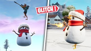 GLITCH (C) No Fall Damage - Shoot with the Fortnite Battle Royale Snowman!