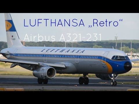 "Lufthansa ""Retro""-Livery Airbus A321-231 Depature from Frankfurt Airport [Close-up]"