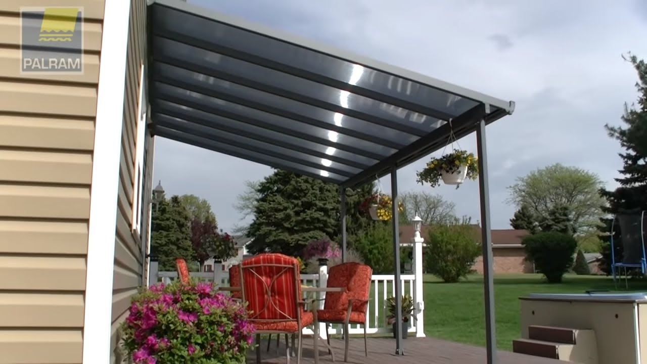 Palram Feria Patio Cover / Pergola / Awning - YouTube