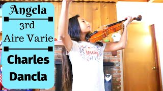 Angela plays 3rd Air Varie by Charles Dancla Op.  89, No  3 I Grace UnHae Kwon Violin Studios