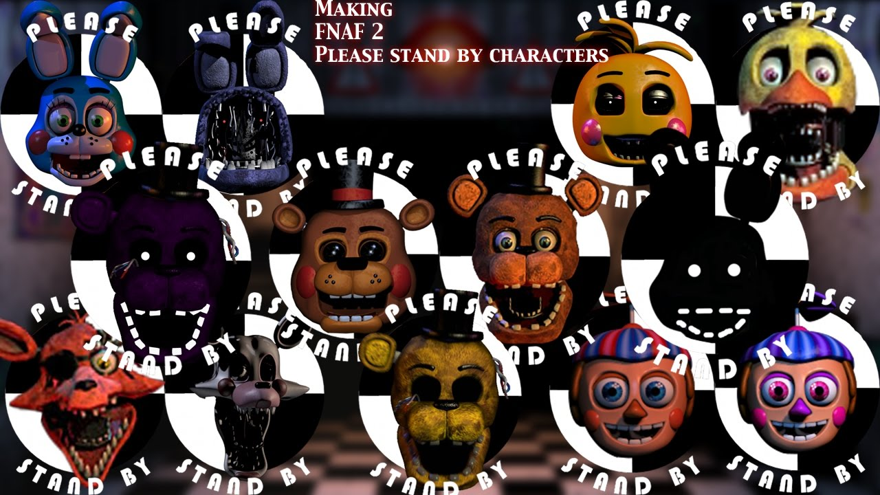 Fnaf  Speed Edit Making Fnaf 2 Please Stand By -1037