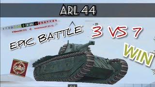 ARL 44 | WOT BLITZ | EPIC WIN | 3 VS 7 | +2,5k DMG |  Gameplay