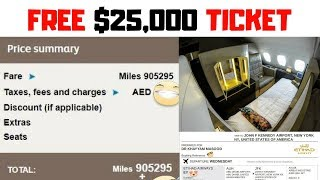 Free Etihad Airlines First Class Ticket : Charity Auction