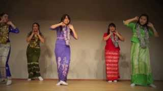 Myanmar Cultural Dance at Tokyo, Japan (Shinjuku International Exchange Language School)