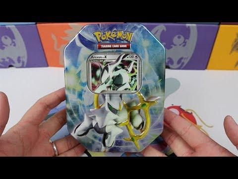 ARCEUS LV.X TIN! Another Rare SHINY Pokemon Card!