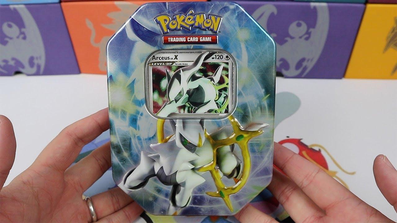 Arceus lv x tin another rare shiny pokemon card youtube - Pokemon x pokemon rare ...