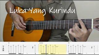 LUKA YANG KURINDU - Mahen - Fingerstyle Guitar Tutorial TAB