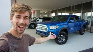 COLLECTION DAY! Buying My Second BRAND NEW Toyota Tacoma!