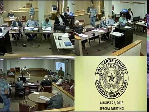 August 22, 2016 Commissioners Court Special Meeting