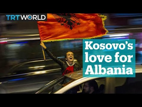 Kosovo's love for the Albanian flag