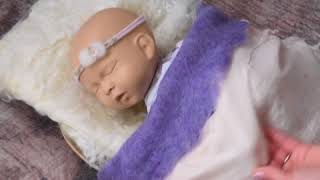 Lavender Felted Set Newborn Photography, Ababa Baby Props Demo video16