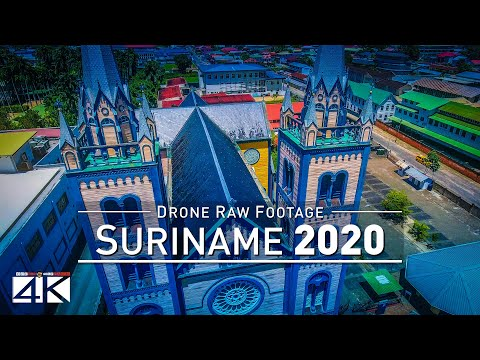 【4K】Drone RAW Footage | This is SURINAME 2020 | Capital City Paramaribo & More | UltraHD Stock Video