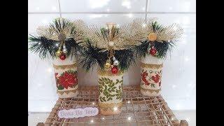 Como Fazer Garrafa Decorada Para o Natal
