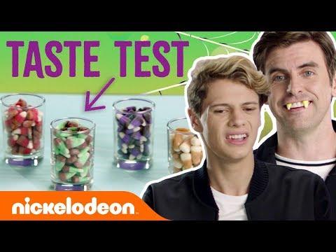 Candy Corn Halloween Taste Test ft. Jace Norman & Cooper Barnes | #NickStarsIRL
