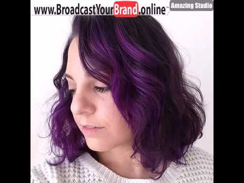 Dark Brown Hair With Bright Purple Highlights Style Youtube