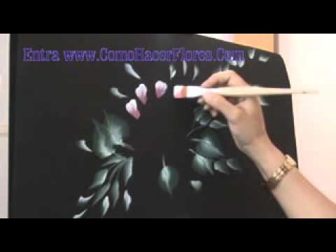 Pintar cuadros de flores muy f cil muy r pido con - Como pintar un cuadro moderno ...