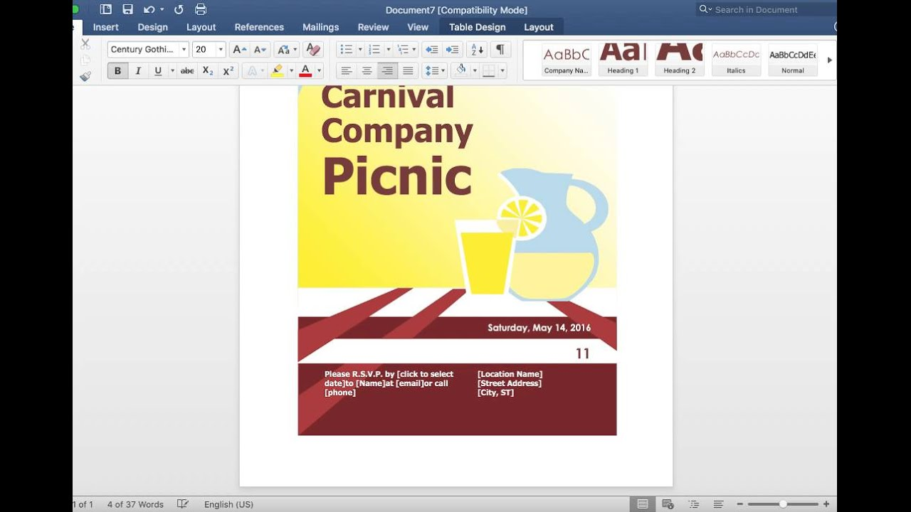 how to make a event flyer