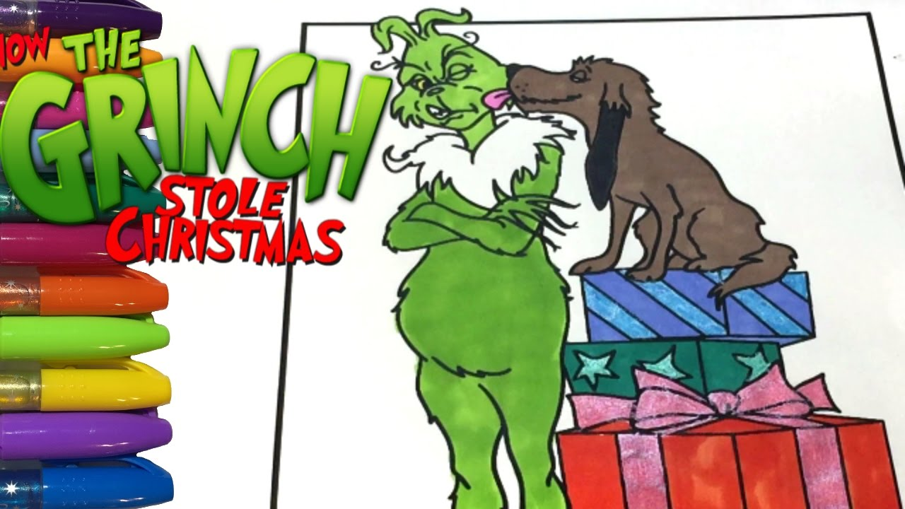The Grinch Coloring for Christmas Gift Giving - YouTube