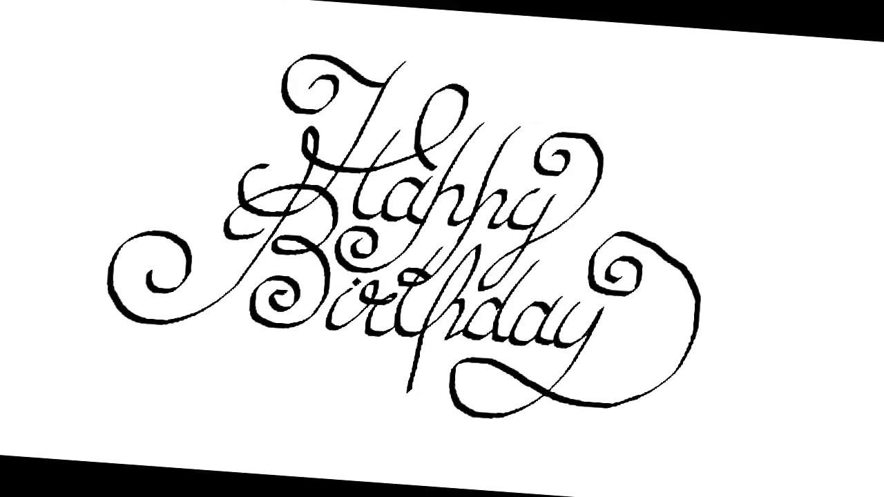 Happy birthday calligraphy youtube