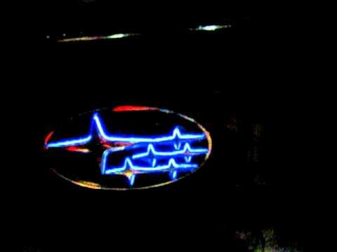 Led Trans Emblem Subaru Youtube