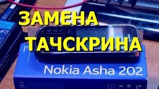 Сотовый телефон Nokia Asha 202. Замена тачскрина  / Replacement Touch Screen