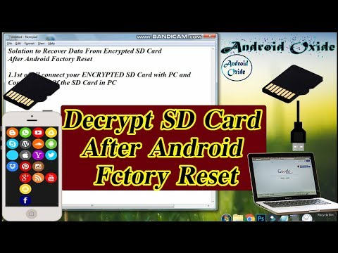 Recover Encrypted Data From SD Card After Factory Reset Android