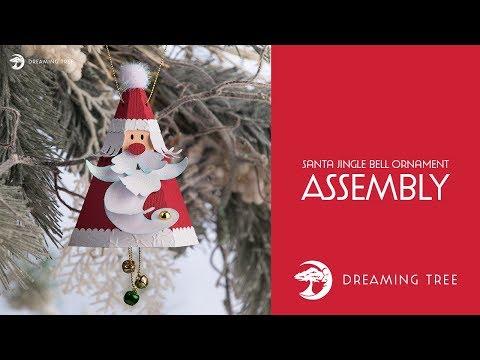 SVG File - Santa Jingle Bell Ornament - Assembly Tutorial