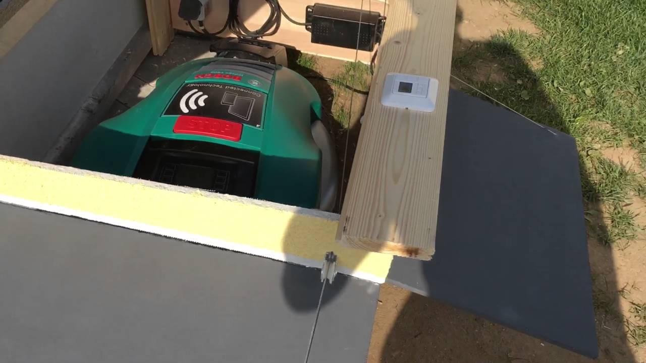 indego roboter garage mit automatischen toren 2 youtube. Black Bedroom Furniture Sets. Home Design Ideas