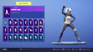 New Skin Panda team leader with 80 dances Fortnite Season 5