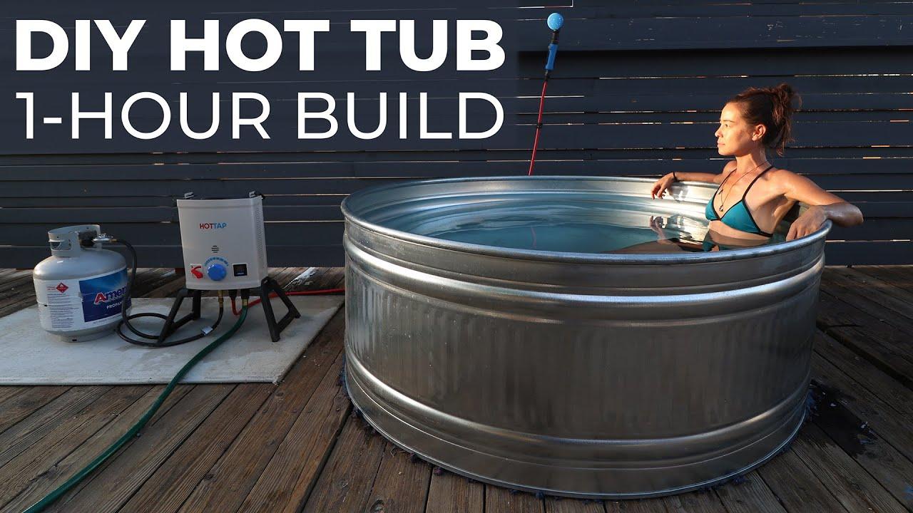 Diy Hot Tub Built In 1 Hour Youtube