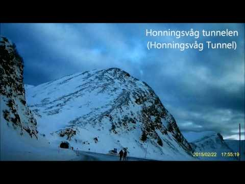 Norway NorthCape Winter Driving - Part 1 (Lakselv to Skarsvag Crossing)