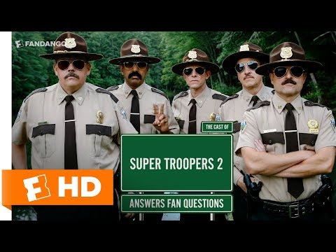 The Cast of 'Super Troopers 2' Answer Fan Questions (2018) Interview   All Access