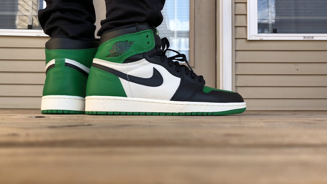 dcbdf8d45776 Air Jordan 1 Retro High OG Pine Green ON FOOT LOOK!!!! - YouTube