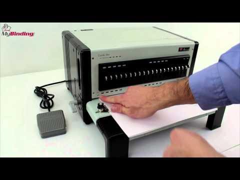 Akiles FlexiPunch E Electric Modular Interchangeable Die Binding Punch Demo