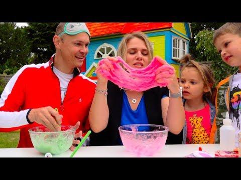 видео: Три ЦВЕТА лизун челлендж РОДИТЕЛИ все смогут... 3 colors slime challenge parents edition