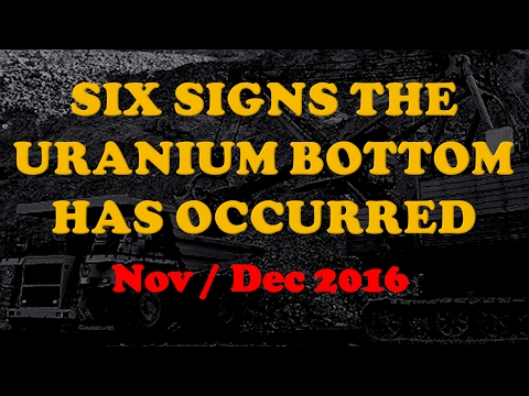 Six Signs the Uranium Bottom Has Occurred