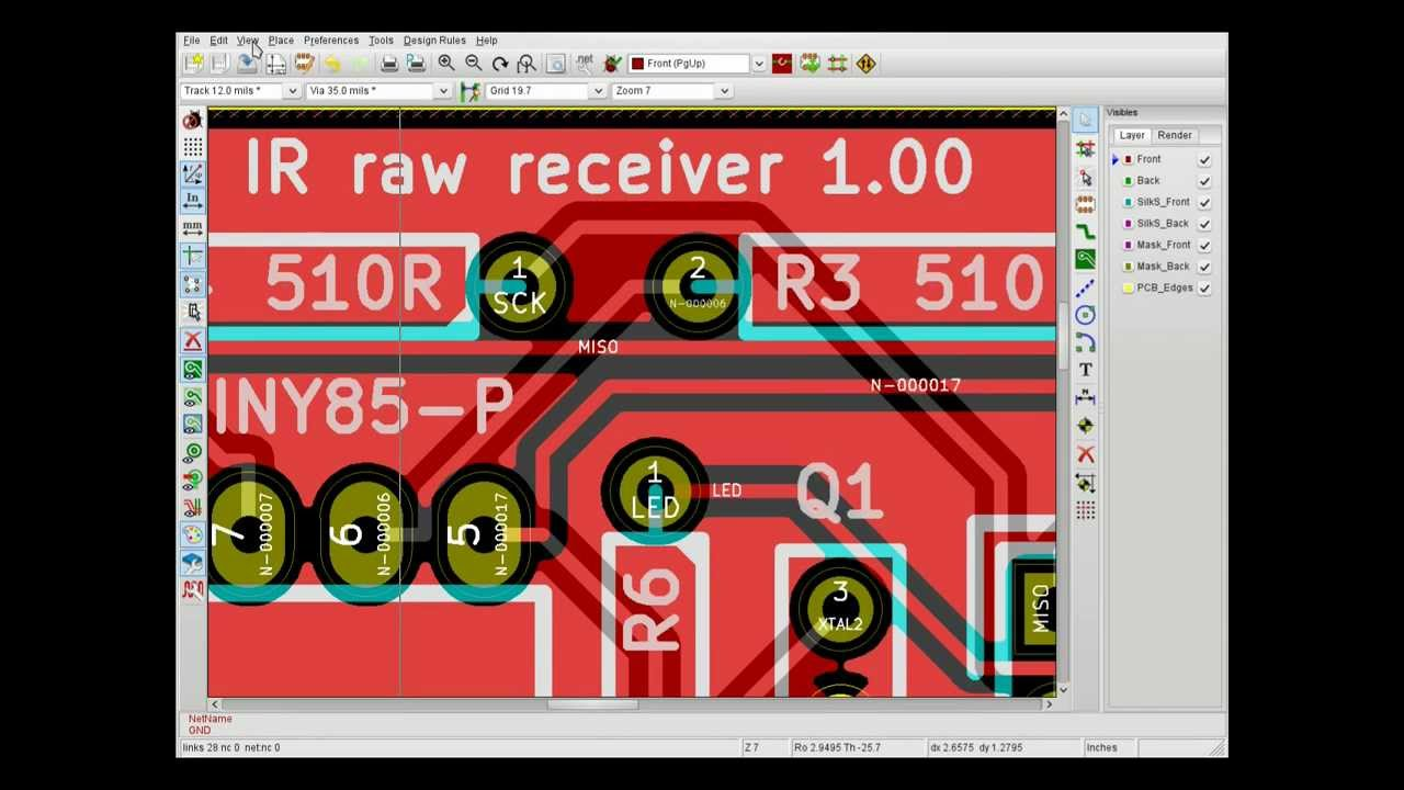 KiCad #3 - Using 'FreeRoute' to create a simple board