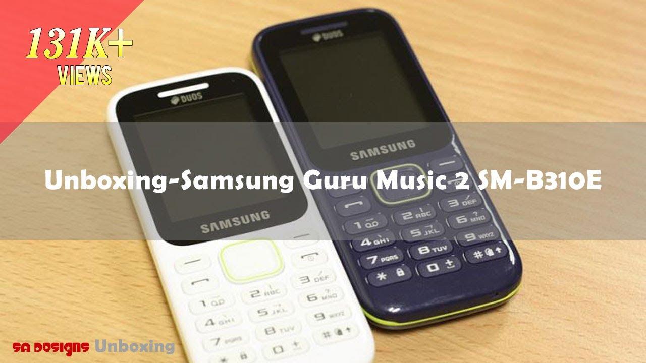 Unboxing Samsung Guru Music 2 SM B310E (Blue)