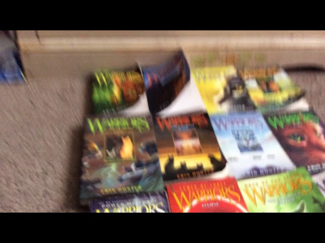 The amazing Warrior cat books I have!