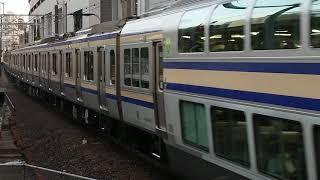 E235系1000番台クラF-08編成+クラJ-02編成横浜駅高速進入