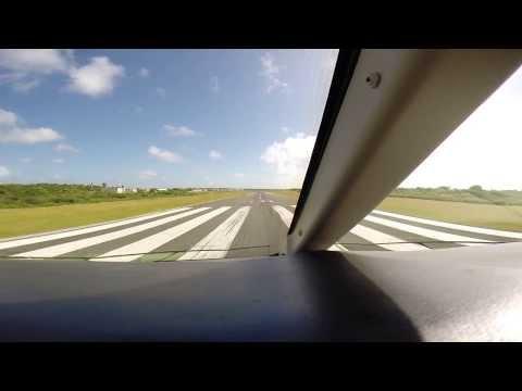 Challenger 300 Takeoff Clayton J. Lloyd International, Anguilla TQPF