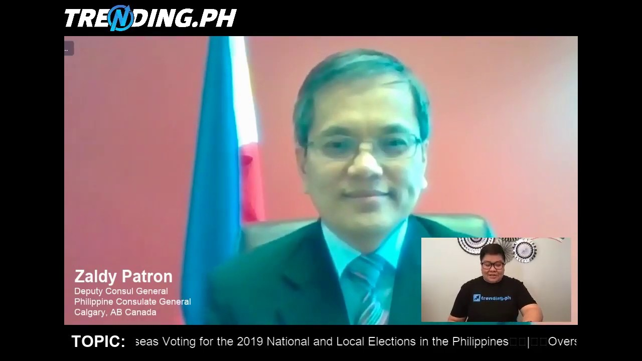 TOPIC: 2019 National & Local Elections Overseas Absentee Voting w/ DCG Zaldy Patron in Calgary