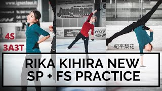 Rika KIHIRA 紀平梨花 NEW SP FS PRACTICE Quad Salchow 4S Triple Axel Triple Toe 3A 3T