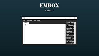 EMBOX (FULL LUA SCRIPT EXECUTOR) (LOADSTRING) (LEVEL 6/7) (REMENDADO ROBLOX EXPLOIT) (19 DE JULHO DE 2018)