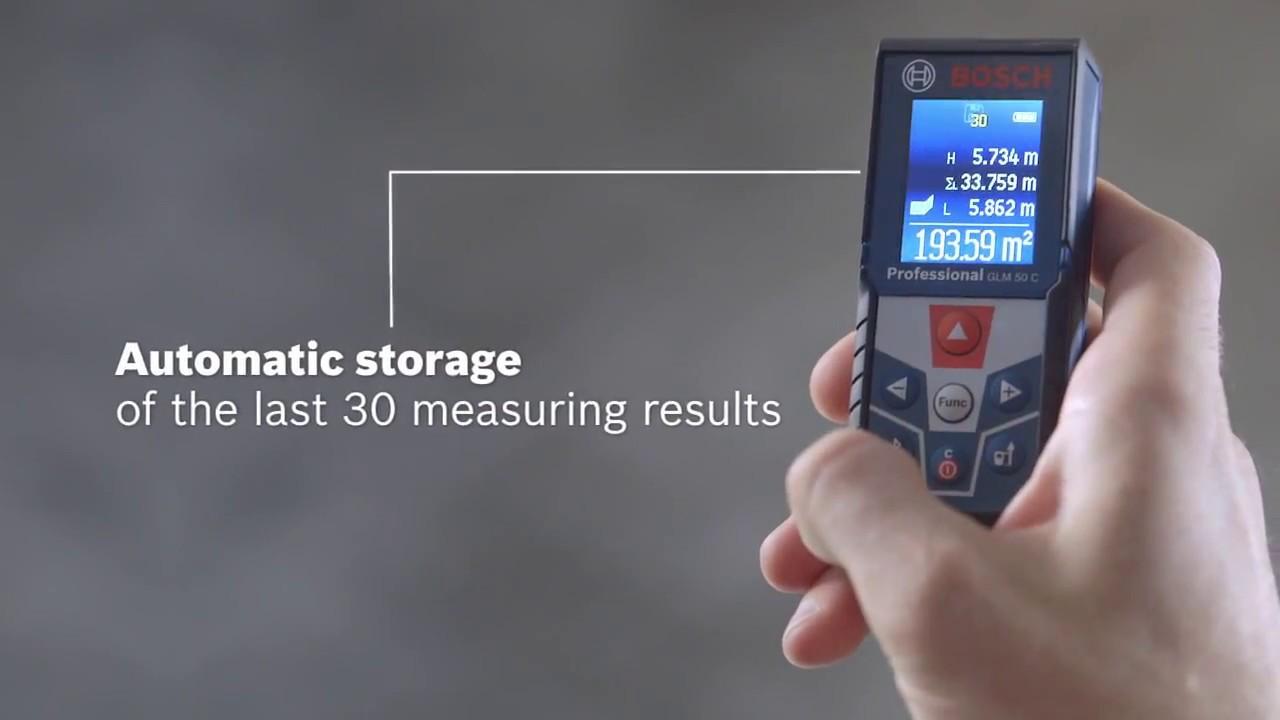 Makita Entfernungsmesser Opinie : Bosch professional glm 50 c youtube