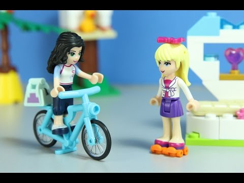 Stephanie & Emma's Day At School - A Lego Friends Stop-Motion Movie