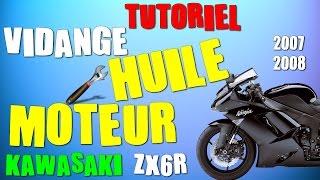 TUTO : COMMENT FAIRE UNE VIDANGE D'HUILE D'UNE MOTO (zx6r)