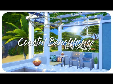 Sims 4 House Build - Coastal Beach House  (with SimLicy!)
